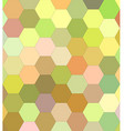 Light color hexagon mosaic background vector image vector image
