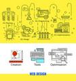 linear web design concept vector image vector image