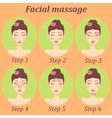 original trendy girl facial massage set vector image