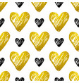 pattern with golden and black hearts vector image vector image