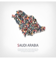 people map country Saudi Arabia vector image
