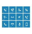 Phones related icons on blue background vector image vector image