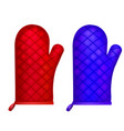 realistic 3d detailed kitchen glove set vector image