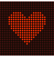 red light heart vector image