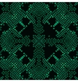 Reptile skin artificial green texture vector image