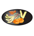 salad plate - healthy food organic vegetables vector image vector image
