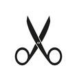 scissors of icon school work cut dividing black vector image vector image