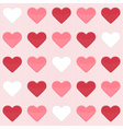 Seamless pattern with cute red and white hearts on vector image vector image