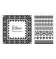 set of ethnic decorative elements in geometric vector image