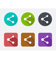 Share icon set vector image vector image