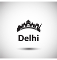 silhouette of Delhi India vector image vector image