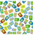 SIM Cards Seamless Pattern vector image