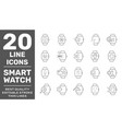 simple set smart watch icons contains icons as vector image