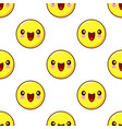 smiley face seamless pattern pattern on white vector image vector image