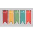 Stylish bookmarks vector image