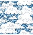 vintage cloud chinese seamless pattern vector image vector image