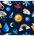 Weather icon pattern background vector image