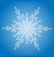 winter white snowflake on blue background vector image vector image