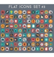 Big set of flat icons with modern colors vector image