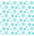 Winter pattern with various falling snowflakes vector image