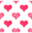 heart seamless pattern background vector image