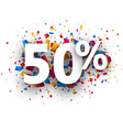 50 sale sign vector image vector image
