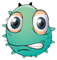 a face of monster vector image