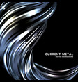 abstract black background current metal wave vector image