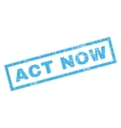 Act Now Rubber Stamp vector image vector image