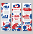 banners for soccer or football game club vector image vector image