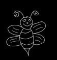bee wasp - kids children chalk drawing vector image vector image