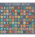 big set flat icons with modern colors vector image vector image