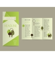 Brochure and flyer design template in polygonal vector image vector image