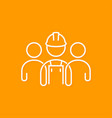 builder line concept construction worker icon vector image