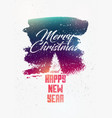 calligraphic vintage grunge christmas card design vector image vector image