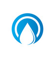 circle waterdrop nature logo vector image vector image