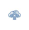cloud computing line icon concept cloud computing vector image vector image