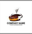 coffee donuts logo vector image
