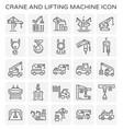 crane lift icon vector image vector image