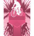 cycling design poster vector image vector image