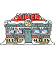 Diner vector image vector image