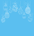 easter invitation card from doodle easter eggs vector image