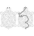 easy tortoise maze vector image vector image