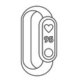 fitness tracker heart beat icon outline style vector image