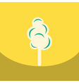 Flat icon design collection cotton candy vector image