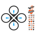 fly drone icon with lovely bonus vector image vector image