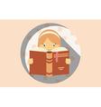 Girl reading a book do not disturb vector image vector image