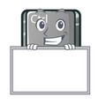 grinning with board ctrl button in cartoon vector image vector image