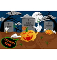 halloween cartoon resurrect pumpkin for celebratio vector image vector image