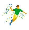 handball player isolated on white background vector image